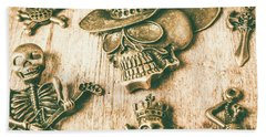 Skulls And Pieces Beach Towel
