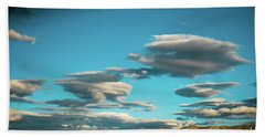 Sky And Clouds Garuda Valley Tibet Yantra.lv Beach Towel
