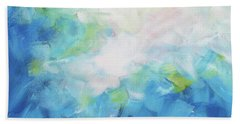 Beach Towel featuring the painting Sky Fall by Angela Treat Lyon