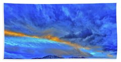 Beach Towel featuring the photograph Sky Fall by Scott Mahon