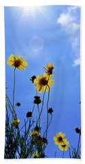 Sky Flowers Beach Towel