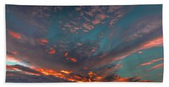 Sky In Fire #g6 Beach Sheet