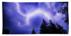 Sky Lightning Beach Towel