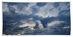Beach Towel featuring the photograph Sky Moods - Happenings by Glenn McCarthy Art and Photography