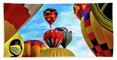 Sky Of Balloons Beach Sheet by Gina Savage