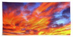 Sky On Fire #5 Beach Towel