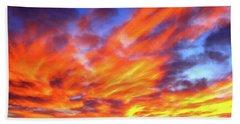 Sky On Fire #5 Beach Sheet