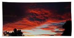 Beach Towel featuring the photograph Sky On Fire by Angela DeFrias