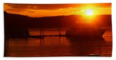 Beach Towel featuring the photograph Sky On Fire by Living Color Photography Lorraine Lynch