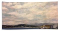 The Port Of Everett From Howarth Park Beach Towel