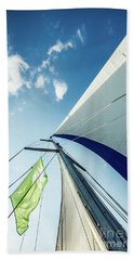 Sky Sailing  Beach Towel