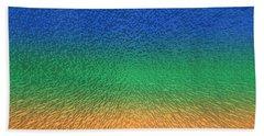 Sky Sea Sand 3d Blocks Beach Towel