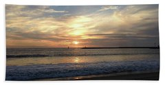 Beach Towel featuring the photograph Sky Swirls Over Toes Beach by Lorraine Devon Wilke