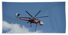 Skycrane Works The Red Canyon Fire Beach Towel by Bill Gabbert