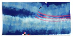 Beach Towel featuring the photograph Skydiver by Trey Foerster