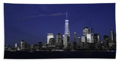 Skyline At Night  Beach Towel
