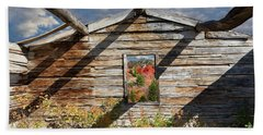Skylit Cabin In The Woods Beach Towel