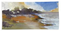 Beach Sheet featuring the painting Skyscape 4 by Rae Andrews