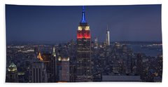Skyscrapers Beach Towel by Rick Berk