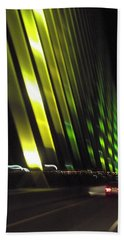 Skyway At Night 5559 Beach Towel