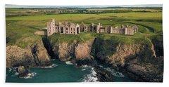 Slains Castle Beach Towel