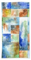 Beach Towel featuring the painting Slated Watercolor by Kristen Fox
