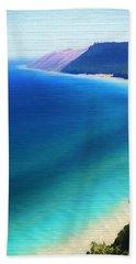 Sleeping Bear Dunes Barn Wood Beach Towel by Dan Sproul