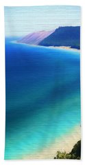 Sleeping Bear Dunes Barn Wood Beach Sheet by Dan Sproul