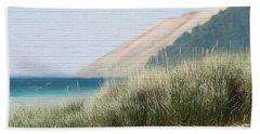 Sleeping Bear Sand Dune Beach Towel by Dan Sproul