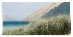 Sleeping Bear Sand Dune Beach Sheet by Dan Sproul