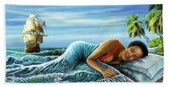 Sleeping Beauty Beach Sheet by Anthony Mwangi