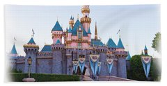 Sleeping Beauty's Castle Disneyland Beach Towel