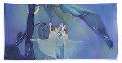 Sleeping Fairies Beach Towel by Blue Sky