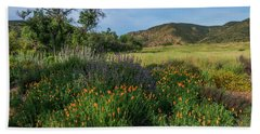 Sleeping Poppies, Mission Trails Beach Towel