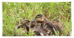 Sleepy Ducklings Beach Towel