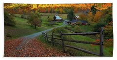 Sleepy Hollow Farm- Pomfret Vt Beach Sheet