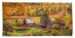 Sleepy Hollow - Pomfret Vermont In Autumn Beach Sheet