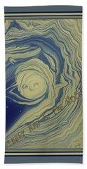 Sleepy Man In The Moon Beach Towel