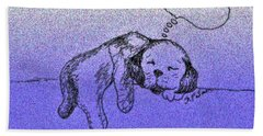 Sleepy Puppy Dreams Beach Towel