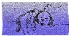Sleepy Puppy Dreams Beach Sheet