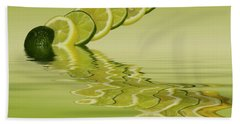 Beach Towel featuring the photograph Slices Lemon Lime Citrus Fruit by David French