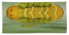 Beach Towel featuring the photograph Slices Orange Lime Citrus Fruit by David French