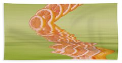 Beach Towel featuring the photograph Slices Pink Grapefruit Citrus Fruit by David French