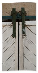Sliding Barn Door 3 Beach Towel by Jani Freimann