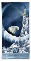 Sliding On The Moon Beach Towel