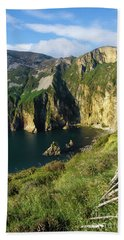 Beach Towel featuring the photograph Slieve League Cliffs Eastern End by RicardMN Photography