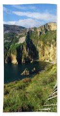 Beach Sheet featuring the photograph Slieve League Cliffs Eastern End by RicardMN Photography