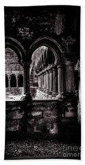 Beach Towel featuring the photograph Sligo Abbey Interior Bw by RicardMN Photography