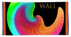 Beach Towel featuring the photograph Slinky Dove Of Peace-the Gallery Wall Logo by Wendy Wilton