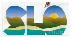 Slo Morning Beach Towel